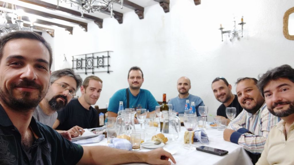Miembros FEVEMP durante la comida